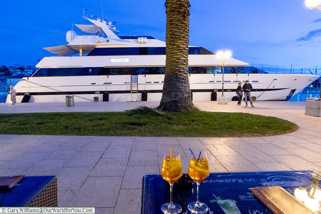 Aperol Spritz on the Riva, Trogir, Croatia