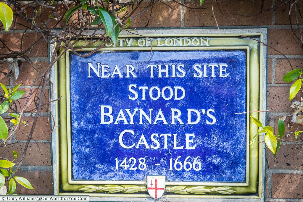 Barnard's Castle Plaque, City of London, London, England, UK