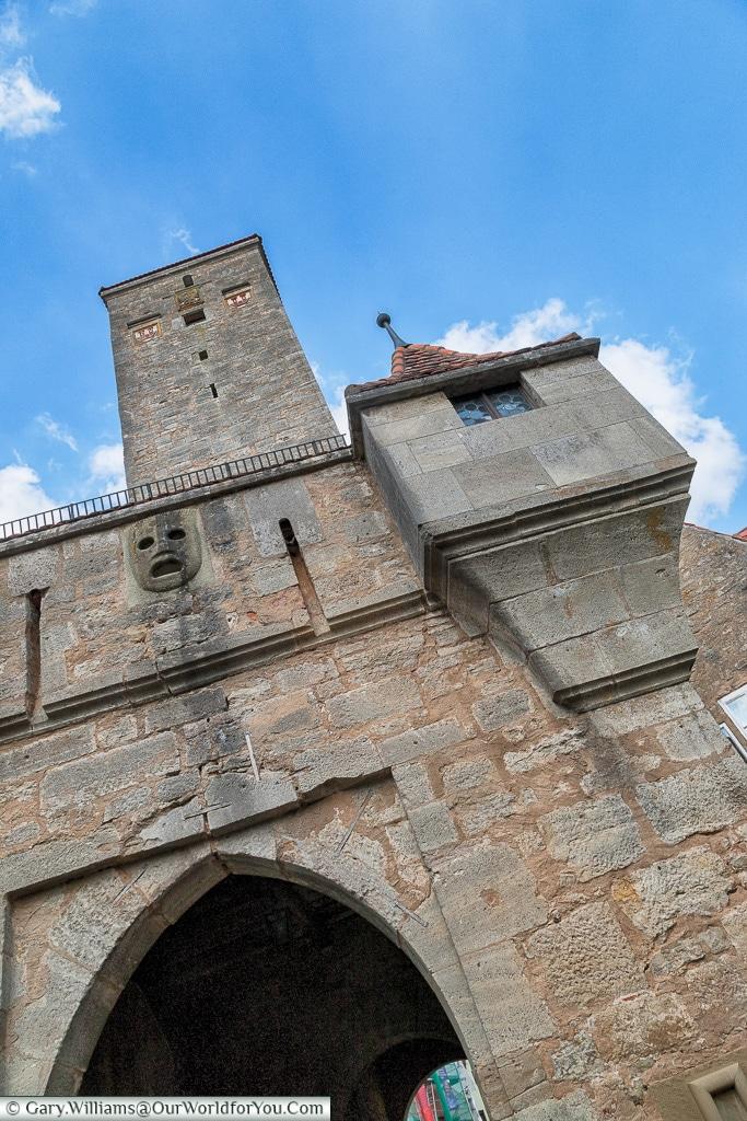 Beware those who enter, Rothenburg ob der Tauber, Germany