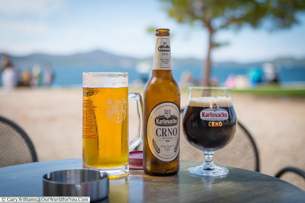 Cold beers by the sea, Zadar, Croatia