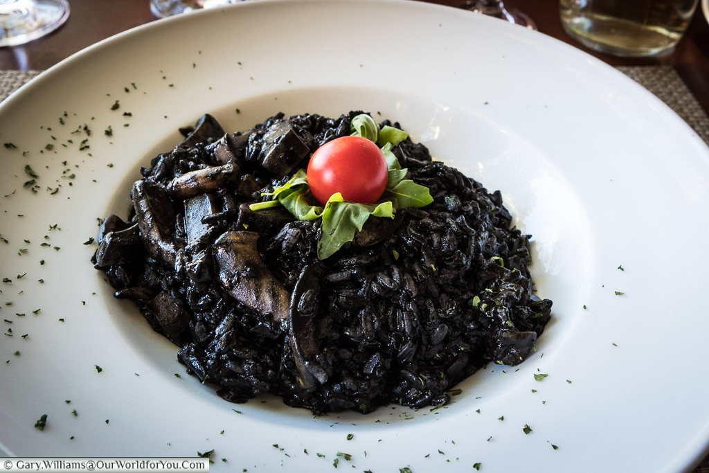 Crni rižot, or Black Risotto, Croatian Food