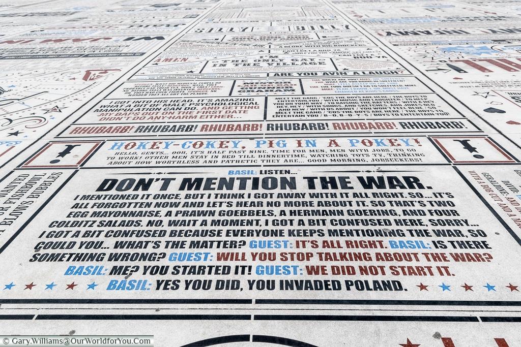 Don't Mention the War, Blackpool, Lancashire, England, UK