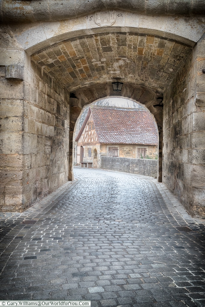 Entering the town from the south, Rothenburg ob der Tauber, Germany