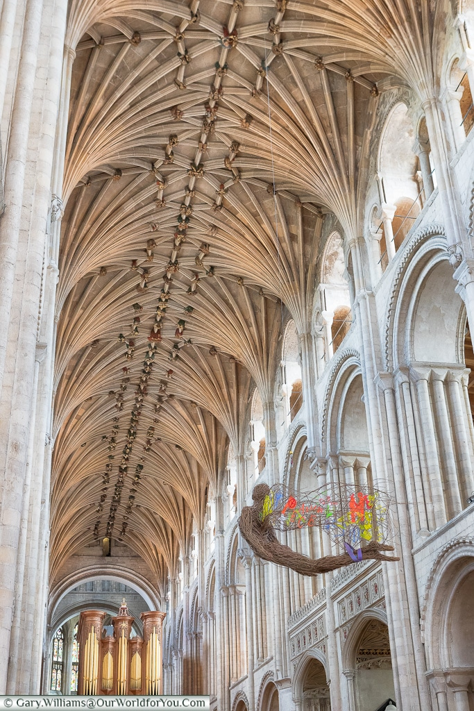 Inside the Cathedral, Norwich, Norfolk, England