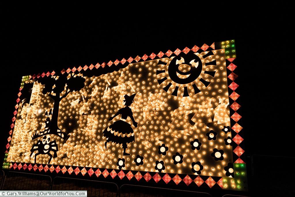 Little Miss Muffet, Blackpool Illuminations, Lancashire, England, UK