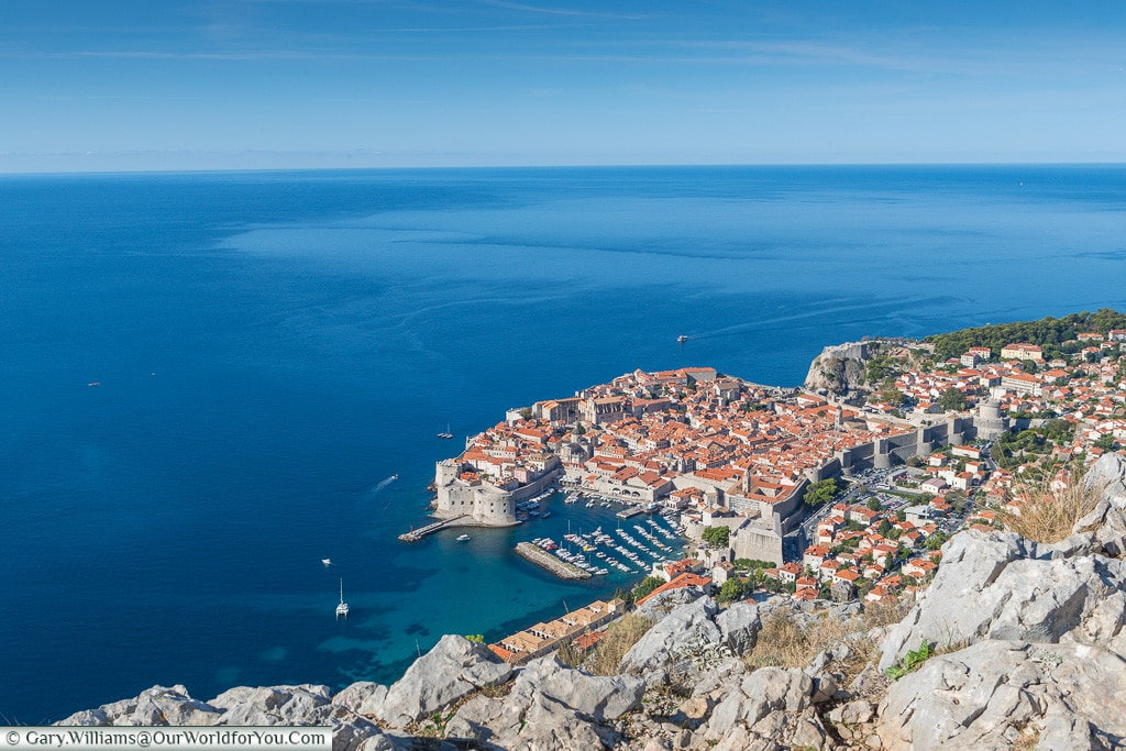 Looking down from the viewpoint, Dubrovnik, Croatia