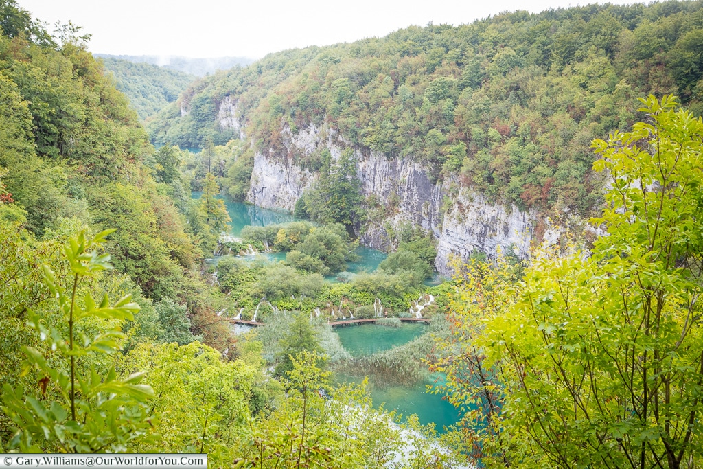 Looking down the valley, Plitvice Lakes, Croatia