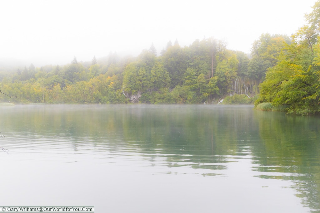 Mist across the water, Plitvice Lakes, Croatia