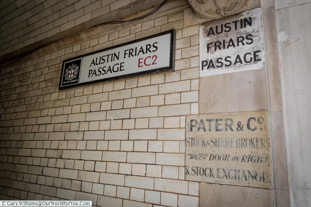 Passages, City of London, London, England, UK