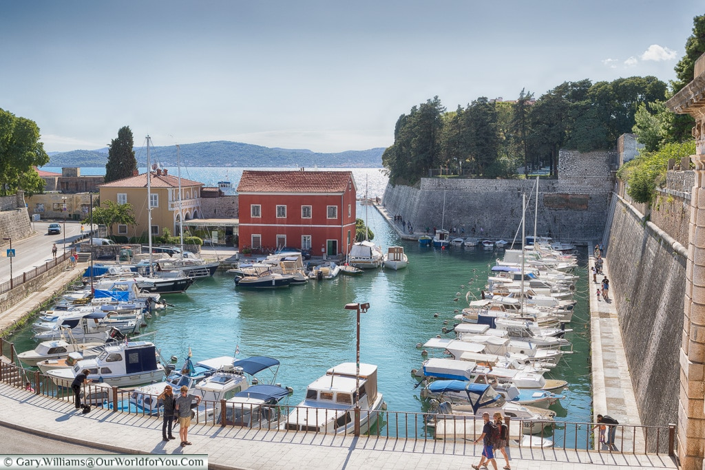 Looking down on the harbour, Zadar, Croatia