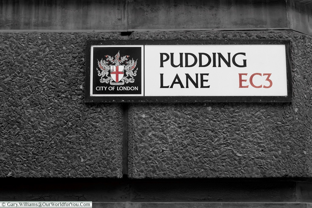 Pudding Lane, City of London, London, England, UK