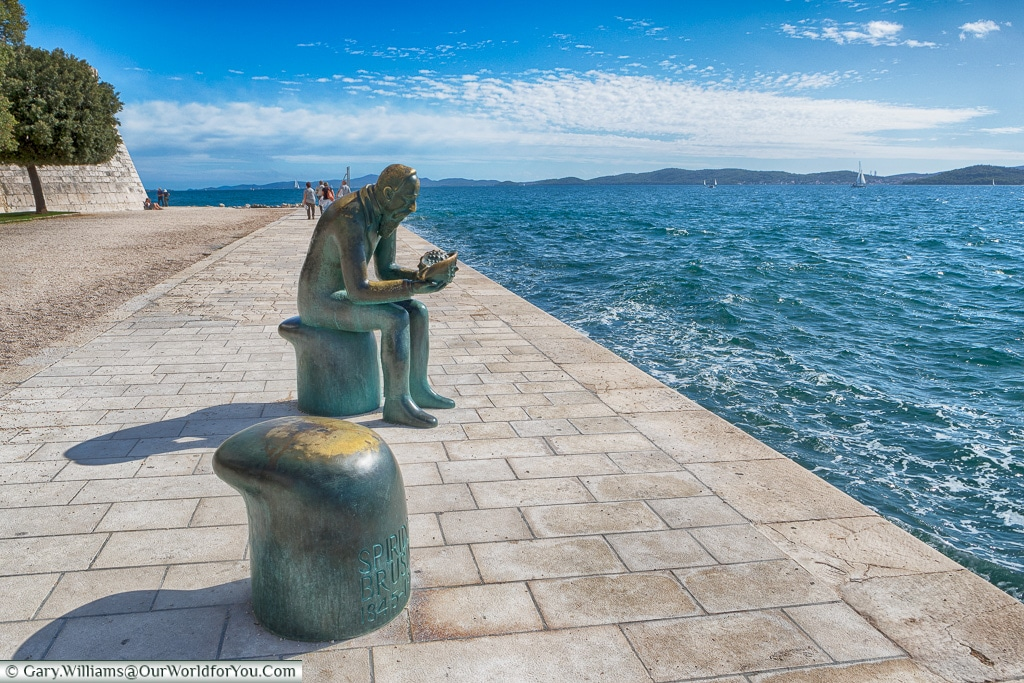 Reflecting by the Sea, Zadar, Croatia