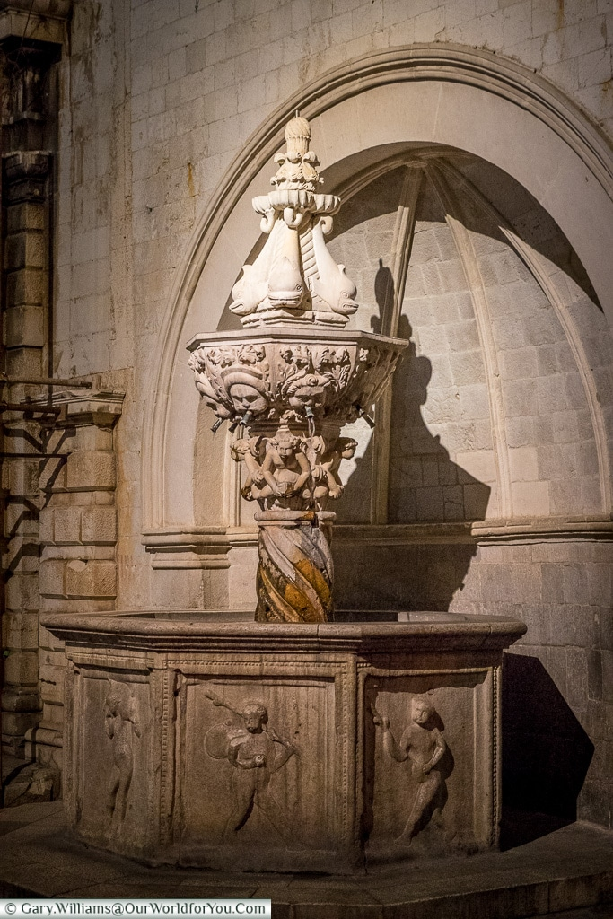 Small Onofrio's Fountain, Dubrovnik, Croatia