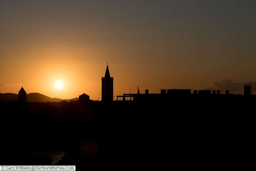 Sunset from the apartment, Zadar, Croatia