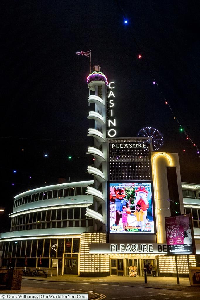 The Casino, Blackpool Illuminations, Lancashire, England, UK