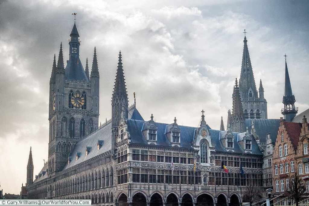 The restored Cloth Hall, Ypres, Leper, Belgium