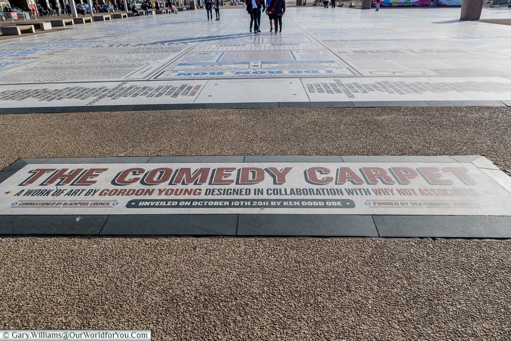 The Comedy Carpet, Blackpool, Lancashire, England, UK