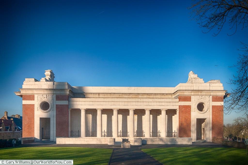 The Menin Gate in profile, Ypres, Belgium