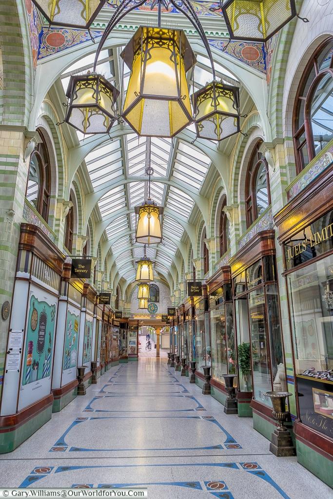 The Royal Arcade, Norwich, Norfolk, England