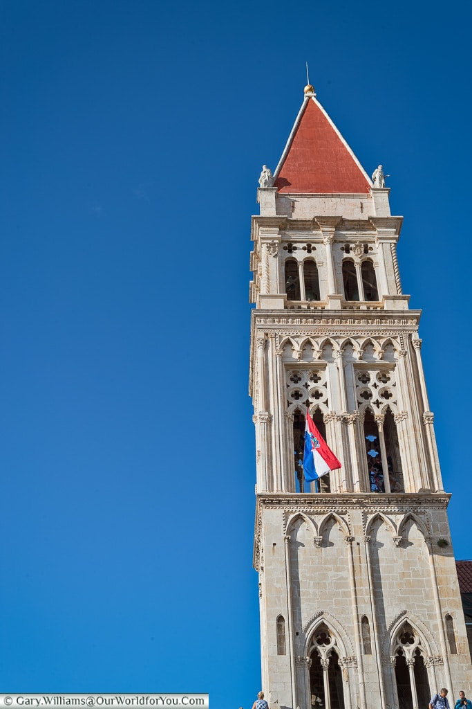 The Tower of Cathedral of St. Lawrence, Trogir, Croatia