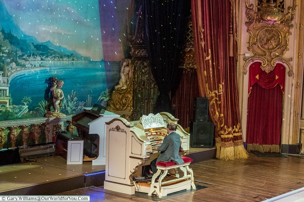 The Wurlitzer inside the Tower Ballroom, Blackpool, Lancashire, England, UK