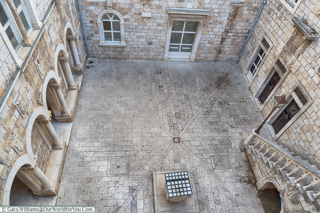 The courtyard of the town hall, Trogir, Croatia