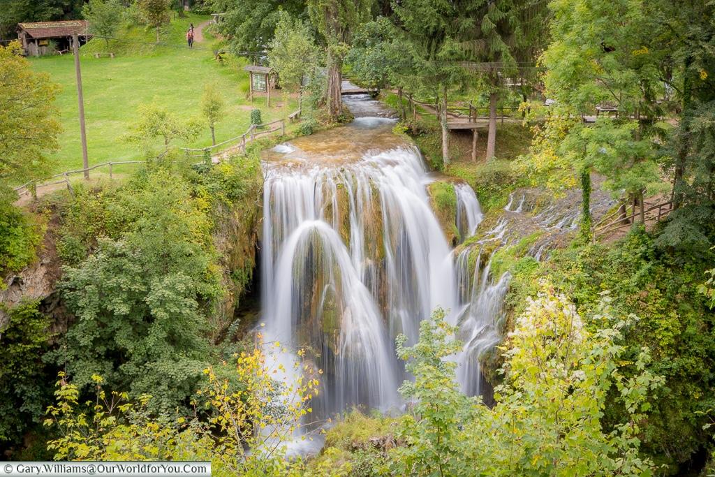 The flowing falls of Rastoke, Croatia