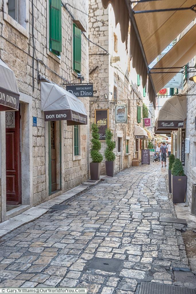 The lanes of Trogir, Trogir, Croatia