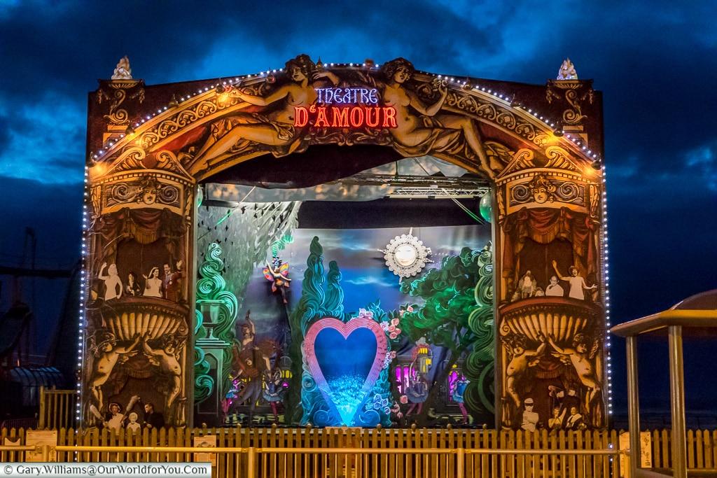 Theatre D'Amour, Blackpool Illuminations, Lancashire, England, UK