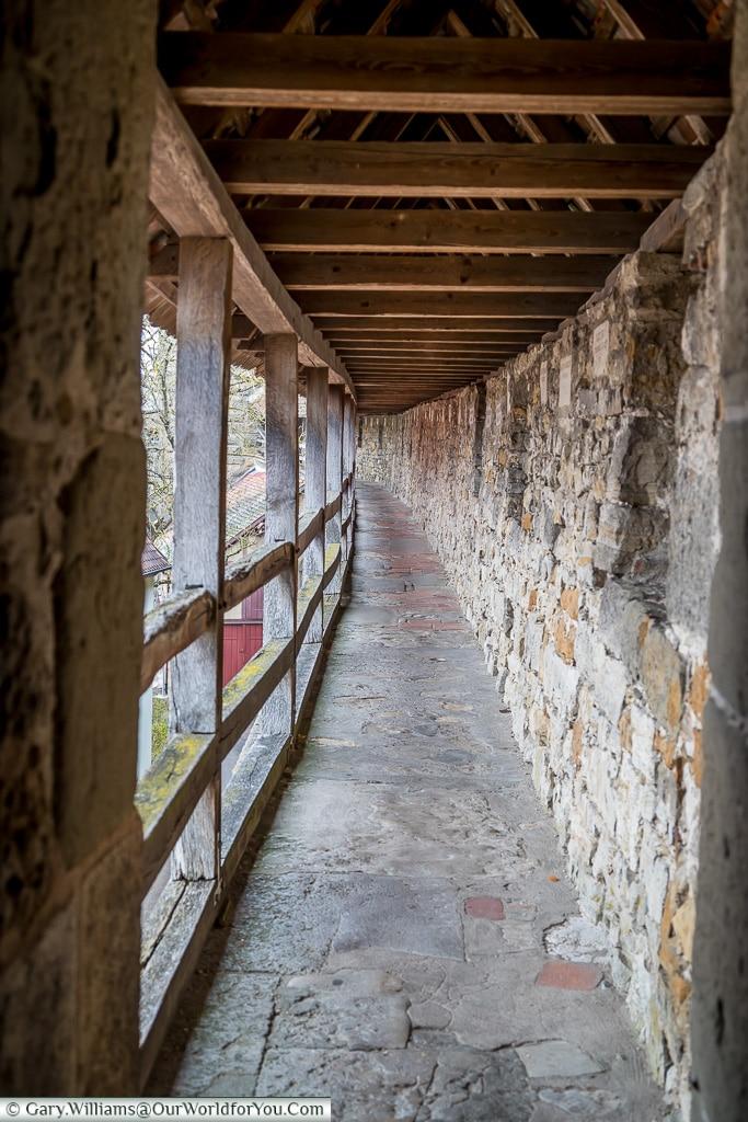 Walking the Ramparts, Rothenburg ob der Tauber, Germany