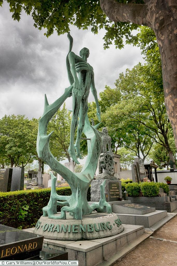 A Holocaust memorial, Père Lachaise Cemetery, Paris, France