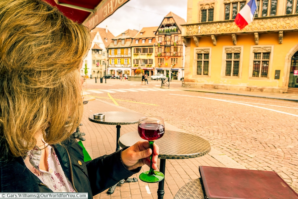 A Pinot Noir in those glasses, Obernai, Alsace, France