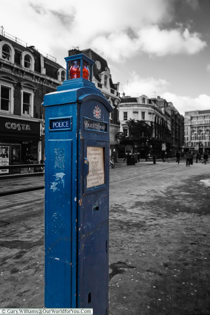 A Police Telephone post, City of London, London, England, UK