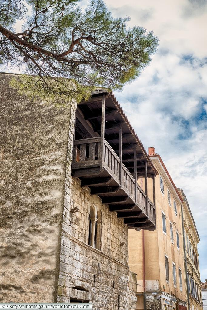 A balcony view, Porec, Croatia