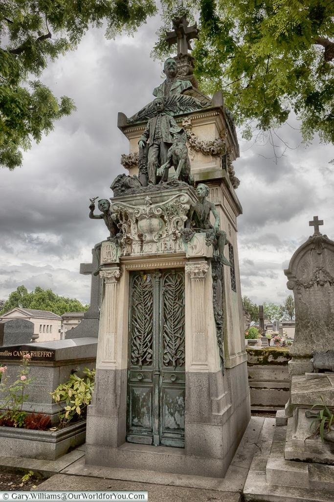 An Impressive Tomb, Père Lachaise Cemetery, Paris, France