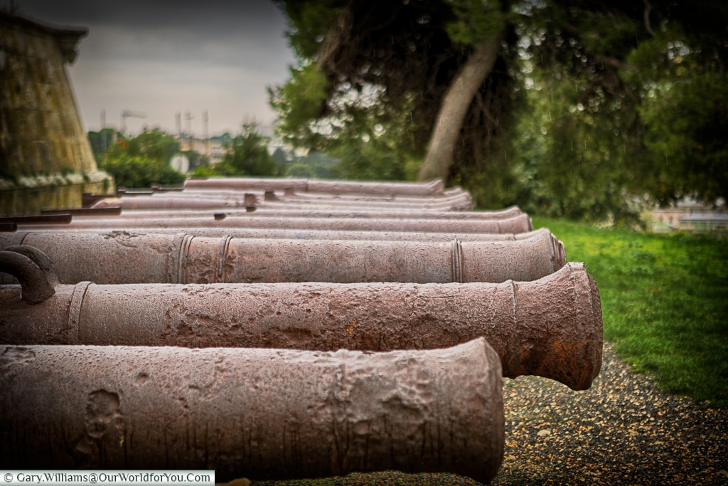 Ancient Cannons,Pula, Croatia