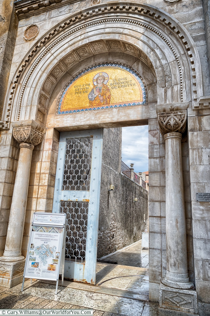 Entrance to the Basilica, Poreč, Croatia