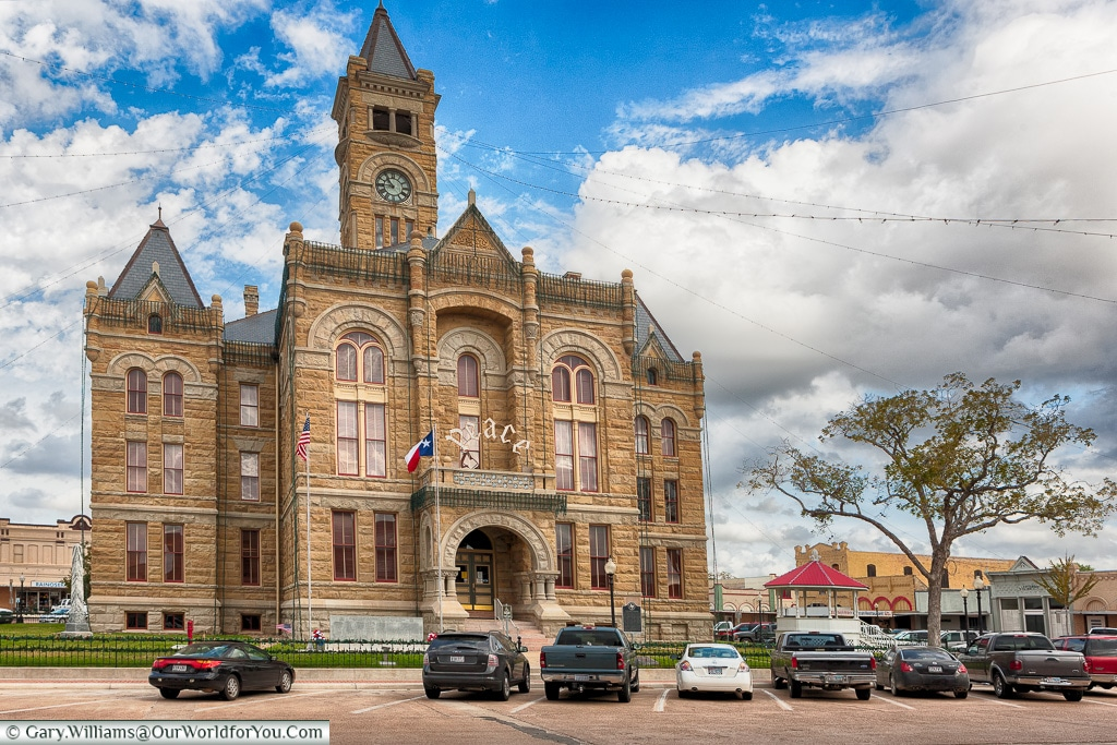 Lavaca County Courthouse, Hallettsville, Texas, America, USA