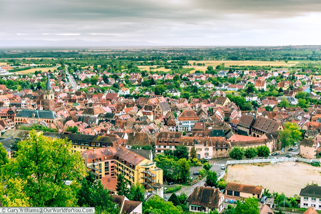 Obernai from the viewpoint, Obernai, Alsace, France