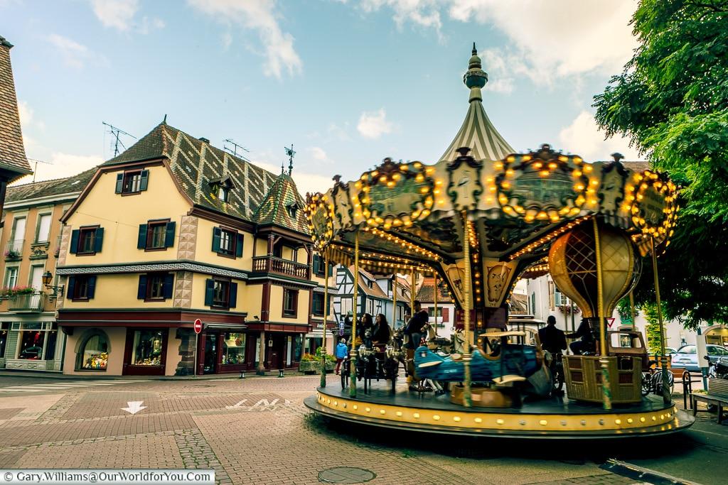 The Place de l'Etoile, Obernai, Alsace, France