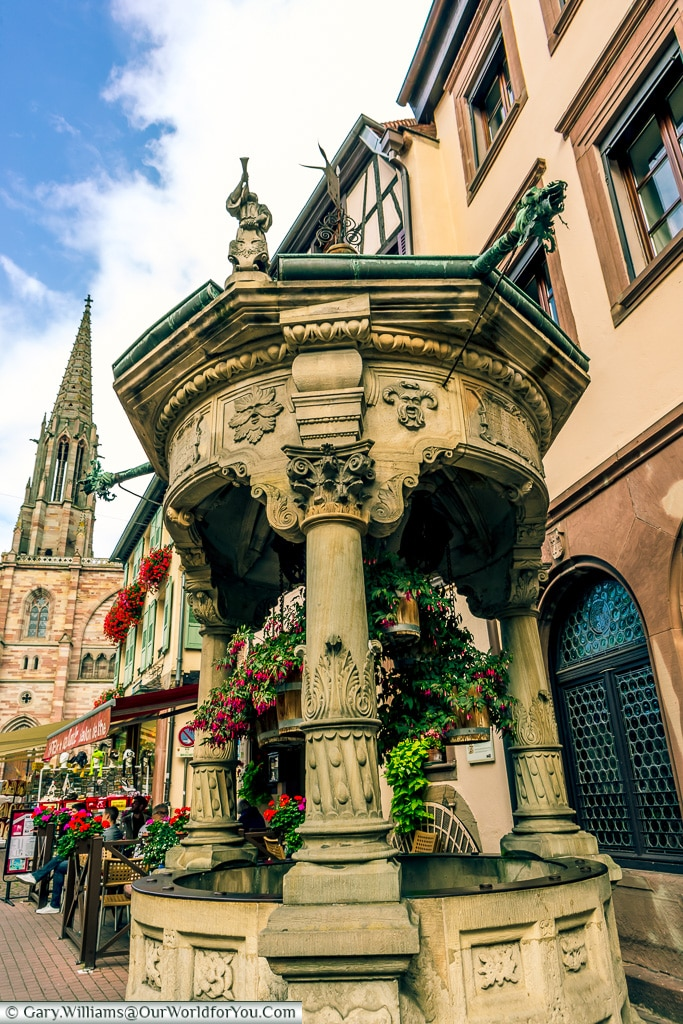 Six Buckets Well, Obernai, Alsace, France