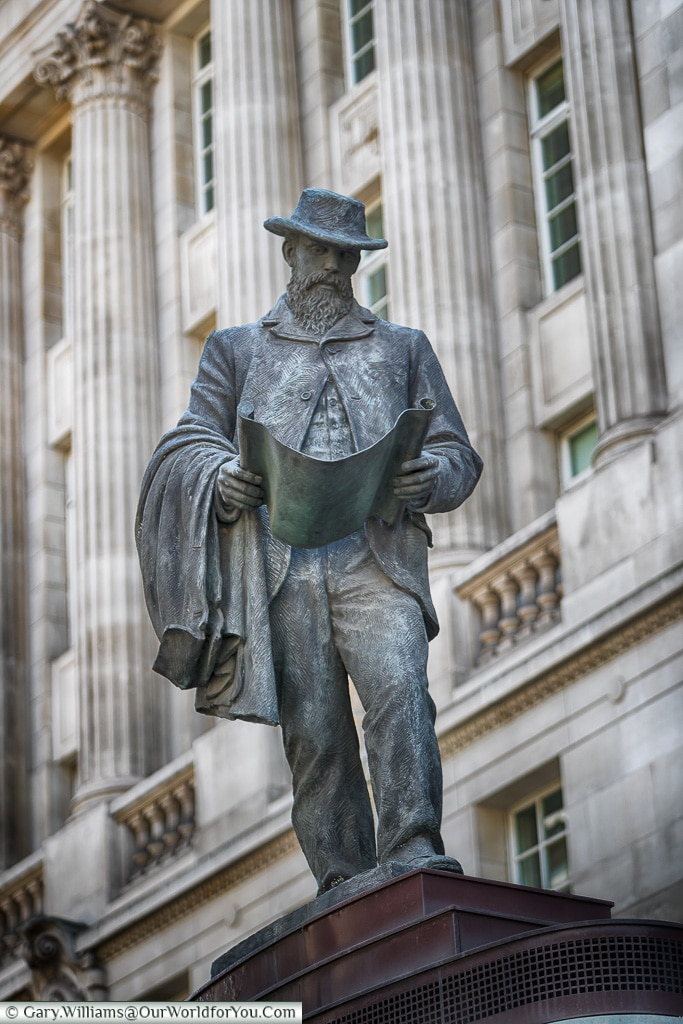 Statue to James Henry Greathead, City of London, London, England