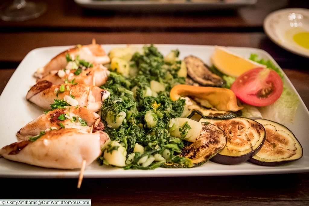 Stuffed Squid, Croatian Food