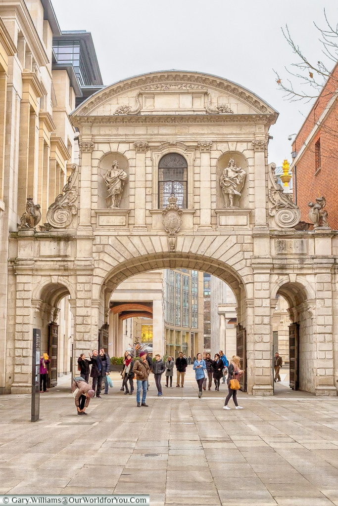 Temple Bar gate - Relocated to Paternoster Square, City of London, London, England, UK
