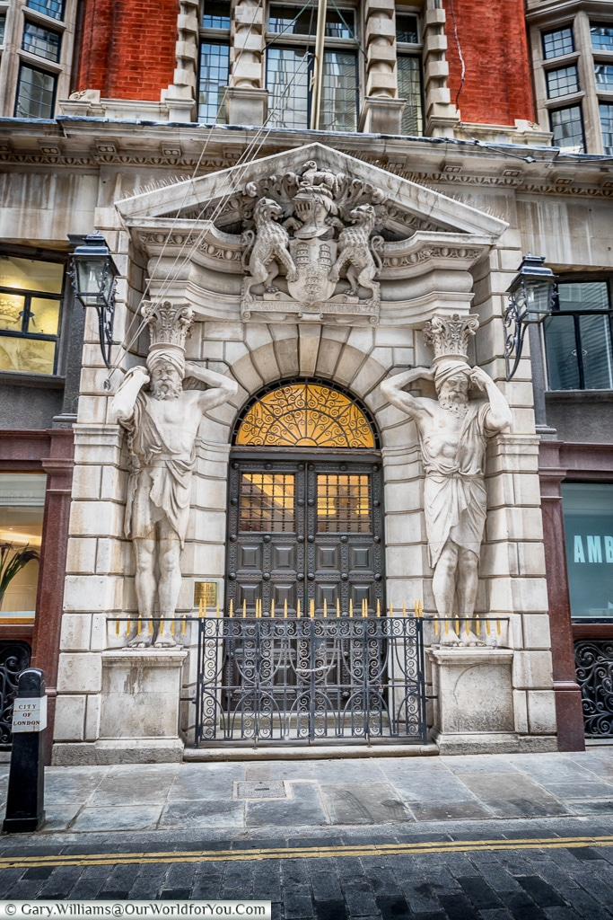 The Entrance to Drapers hall, City of London, London, England, UK
