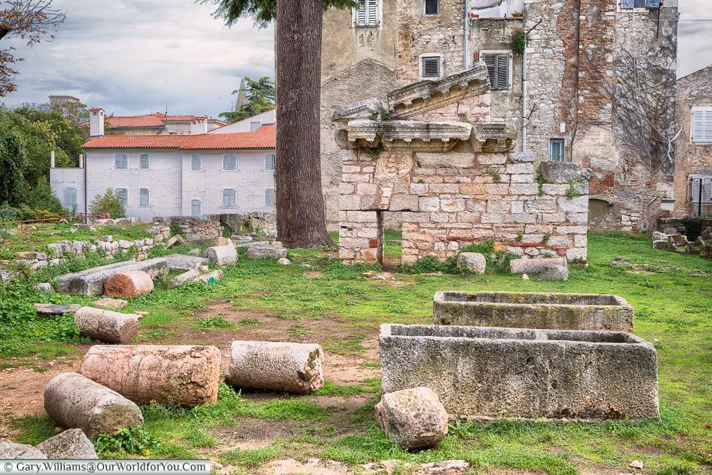 The Great Temple of Neptune, Poreč, Croatia