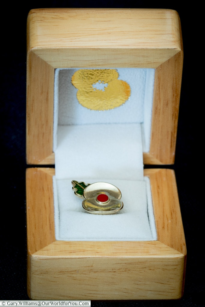 The Passchendaele Pin in its gift box
