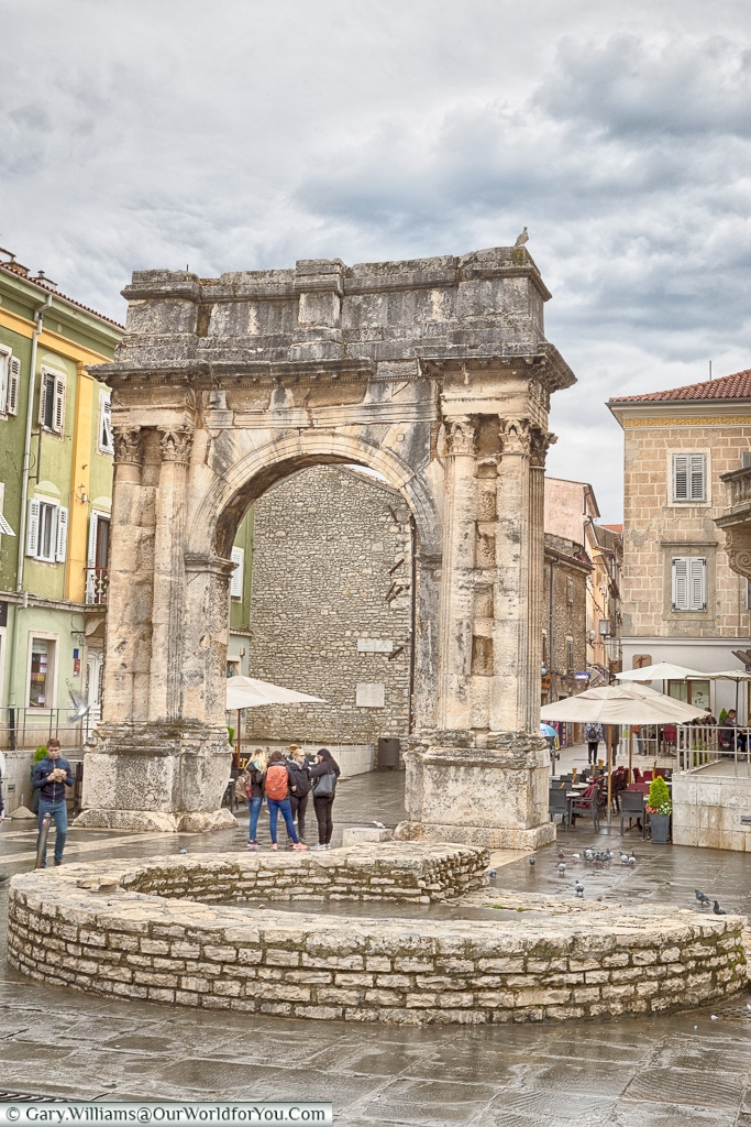 The arch of the Sergii,Pula, Croatia