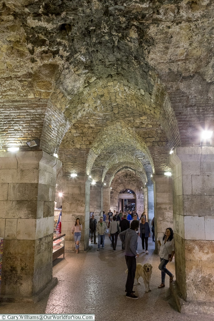 The cellars of the Palace, Split, Croatia