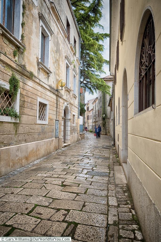 The cobbled lanes, Poreč, Croatia